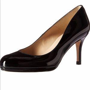 L K Bennett Black Patent Sybiila leather Heels 9